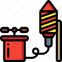 colours, display, explosion, firework, light, rocket icon