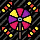 catherine, display, firework, light, spin, wheel icon