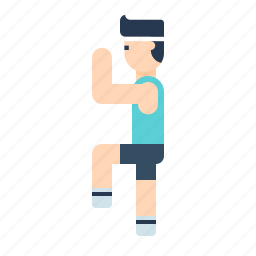 body, boy, exercise, fitness, gym, health, running icon