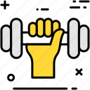 barbell, body building, dumbbell, fitness, lifting, training, weight icon