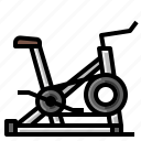 bicycle, exercise, fitness, gym, healthy, stationary icon