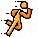 exercise, healthy, jogging, run, running icon
