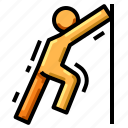 body, health, stretch, training, workout icon