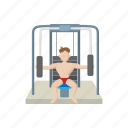 barbell, cartoon, gym, muscle, nude, sport, weight icon