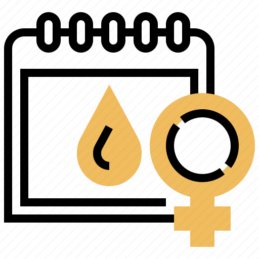 female, gynaecology, menstrual, pregnancy, schedule icon