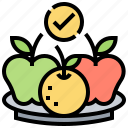 calorie, diet, food, fruit, healthy icon