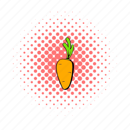 carrot, comics, food, healthy, organic, ripe, vegetable icon