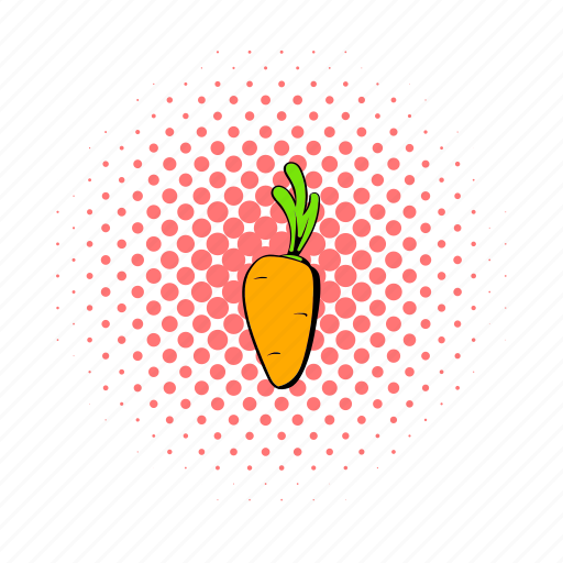 Carrot, comics, food, healthy, organic, ripe, vegetable icon - Download on Iconfinder