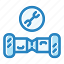battery, check, electrical, gyroscooter, scooter, service, vehicle icon