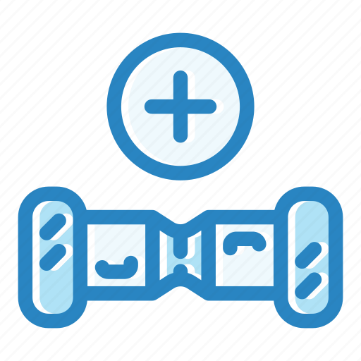 add, electric, gyroscooter, purchase, scooter, shop icon