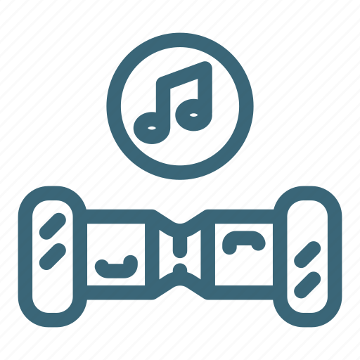 audio, electric, gyroscooter, music, scooter, shop, sound icon