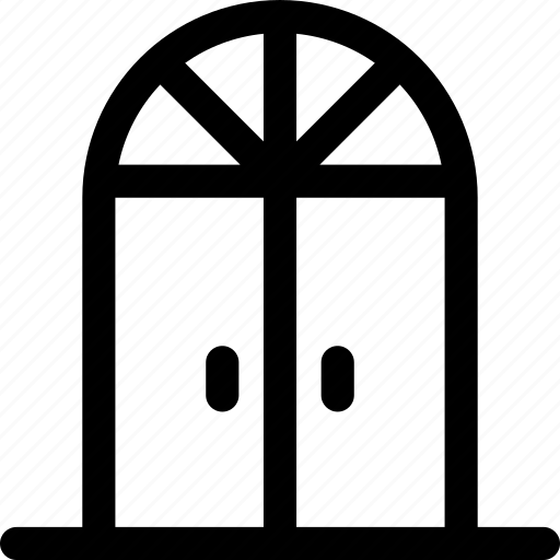 doors, doorway, double, french, front, household, visitors icon