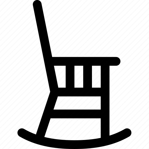 chair, furniture, interior, relax, rocking, sentiment, wood icon