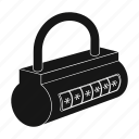 code, equipment, key, lock, protection, security, shield icon