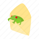 bug, cartoon, computer, internet, letter, mail, virus icon