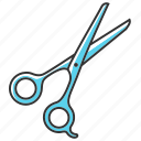 scissors, brace, cutting, hair, instrument, finger, shears icon