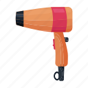 appliance, dryer, hair, hairdryer, hairstyle, household icon