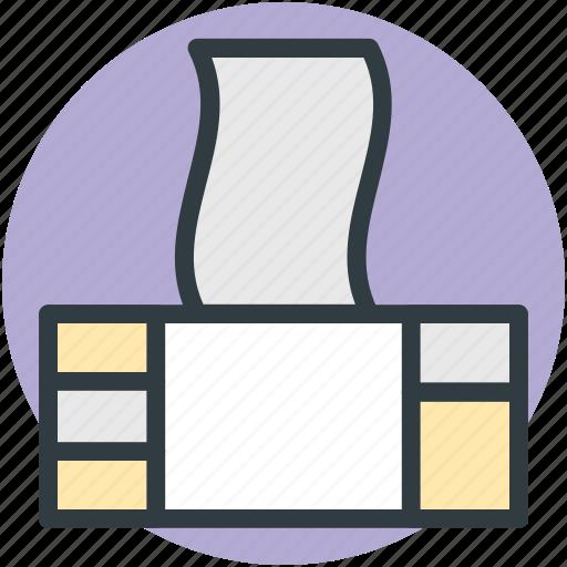 handkerchief, tissue box, tissue pack, tissue paper, wiping tissue icon