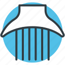 afro comb, hair comb, hair salon, hair style, neck brush icon