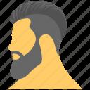 bearded man, man face, man with beard, mens fashion, salon model icon
