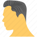 combed hair, hair salon, man hairstyle, men fashion, sample haircut icon