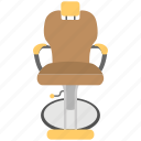 barber chair, beauty accessory, salon chair, salon interior, styling chair icon