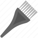 dye brush, dyeing tool, hair care, salon equipment, tint brush icon