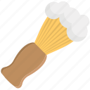 barber shop item, bristle brush, salon accessory, shaving brush, shaving supplies icon