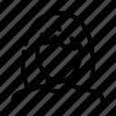 avatar, face, hair, loss, medical, woman icon