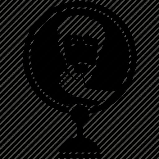 beard, face, hand, man, mirror icon