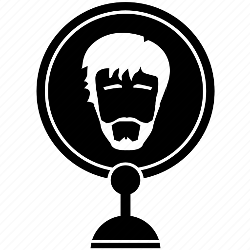 beard, face, look, man, mirror, style icon