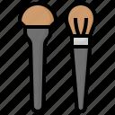 brushes, brush, cosmetics, make, up, beauty, fashion