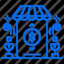 bank, money, payment, safe, shop, store, transaction icon