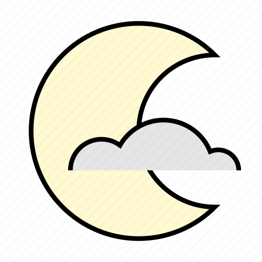 cloud, clouds, halloween, moon, night, nightmare icon