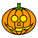 halloween, halloween pumpkin, holiday, monster, nightmare, pumpkin, scary icon