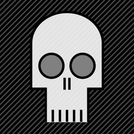 bones, death, ghost, halloween, head, nightmare, skull icon