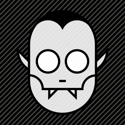 blood, halloween, head, nightmare, scary, spooky, vampire icon