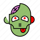 brain, halloween, head, monster, nightmare, undead, zombie icon