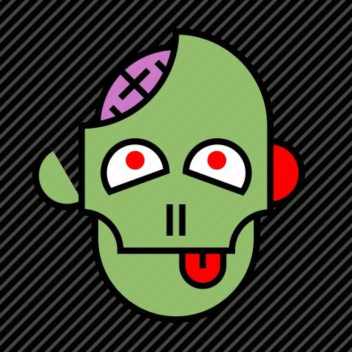 brain, halloween, head, monster, nightmare, undead, zombie icon