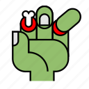 brain, halloween, hand, horror, nightmare, undead, zombie icon