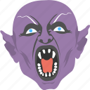 dracula mask, halloween event, halloween with fangs, horrible halloween mask, monster face icon