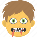 creepy face, halloween celebration, halloween mask, kids horrifying mask, scary mask icon