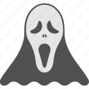 evil ghost mask, halloween festival, halloween head, halloween party, halloween scary mask icon