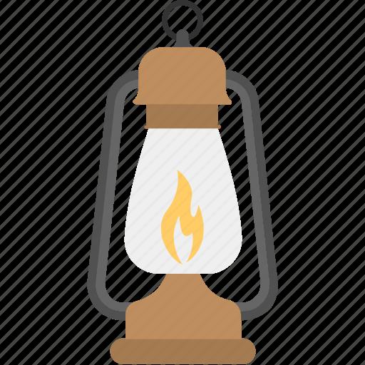 ancient lamp, kerosene lantern, kerosene oil lamp, lantern, light, vintage lantern icon