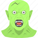 dracula, halloween, halloween with fangs, monster, undead, vampire face icon