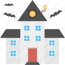 halloween horror castle, halloween mansion, haunted house, spooky house icon