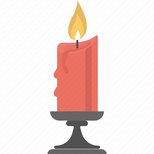 block candle, candle, candle flame, candle wick, ignitable wick icon