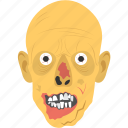 evil creature, evil spirit, ghost face, halloween mask, halloween with fangs icon