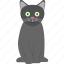 dreadful, evil cat, halloween cat, horrible cat, scary cat icon