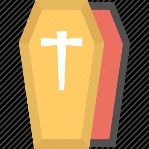casket, halloween casket, halloween coffin, open coffin, vampire coffin icon